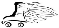 Flaming Rollerskate Decal / Sticker