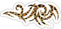 Leopard Print Tribal Decal / Sticker