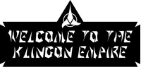 Welcome to the Klingon Empire Decal / Sticker 01