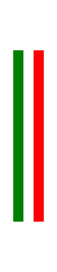 z 12 Inch Italian Flag Single Racing Stripe Decal / Sticker 02