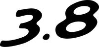 Porsche 3.8 Numbers Decal / Sticker 02