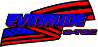 Evinrude E-TEC American Flag Decal / Sticker 16