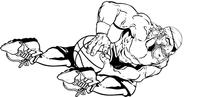 Pirates Basketball Mascot Decal / Sticker