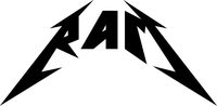 Ram Metallica Lettering Decal / Sticker 20