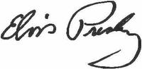 Elvis Autograph Decal / Sticker