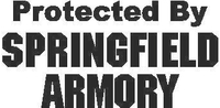 Protected By Springfield Armory Decal / Sticker 06
