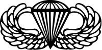 Army Jump Wings Decal / Sticker 01