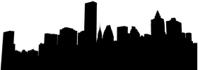 New York Skyline Silhouette Decal / Sticker 09