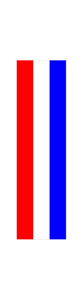 z 12 Inch Red White and Blue Racing Stripe Decal / Sticker