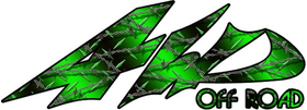 Green Diamond Wire 4WD Off-Road Decal / Sticker