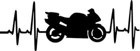 Sportbike Heartbeat Decal / Sticker 01