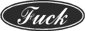 Fuck Oval Decal / Sticker 01
