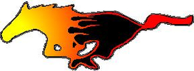 Flaming Horse Decal / Sticker