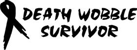 Death Wobble Survivor Decal / Sticker 02