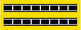 Yamaha Stripe Decal / Sticker 18 Set of 2