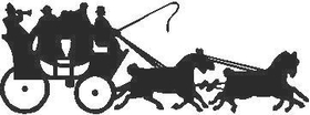 Horse and Carriage Decal / Sticker