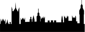 London Skyline Silhouette Decal / Sticker 01