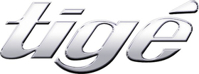 Simulated 3D Chrome Tige Decal / Sticker 11