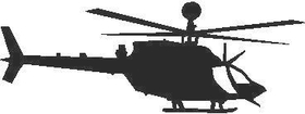 OH58DKIWA Warrior Helicopter Decal / Sticker