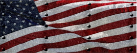 American Flag with Rivets Decal / Sticker 36