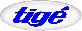 Simulated 3D Domed Tige Decal / Sticker 15