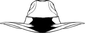 Cowboy Hat Mascot Decal / Sticker