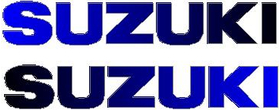 Black to Blue Fade Suzuki Pair Decals / Stickers