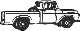 Truck Outline Decal / Sticker 01