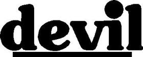 Devil Exhaust Decal / Sticker 01