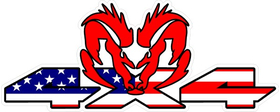 Z 4x4 American Flag Ram Decal / Sticker 39