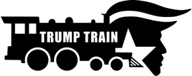 TRUMP TRAIN Decal / Sticker 12