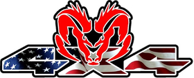 Z 4x4 American Flag Ram Decal / Sticker 47