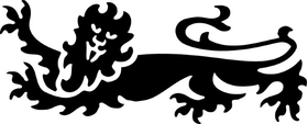 Rampant Lion Decal / Sticker 03