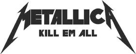 Metallica Kill Em All Decal / Sticker 05