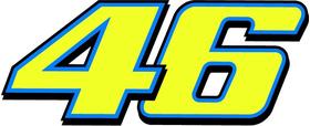 46 Valentino Rossi Decal / Sticker c