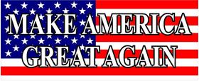 American Flag MAGA Decal / Sticker 03