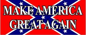 Rebel Flag MAGA Decal / Sticker 04