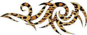 Leopard Print Tribal Decal / Sticker