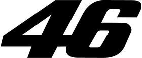 46 Valentino Rossi Decal / Sticker b