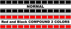 Yamaha Stripe Decal / Sticker 13 Set of 2