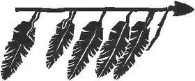 Arrow and Feathers  Decal / Sticker