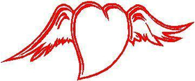 Winged Heart Decal / Sticker 01