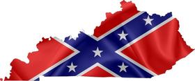 Kentucky Confederate Flag Decal / Sticker 03