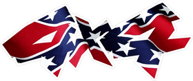 Z 4x4 Confederate Flag Decal / Sticker 20