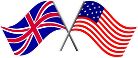 British and Star Spangled Banner Flag Decal / Sticker