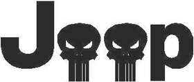 Jeep Skulls Decal / Sticker 01