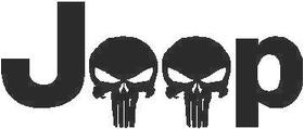 Jeep Skulls Decal / Sticker 02