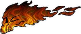 Flaming Skull Decal / Sticker 07
