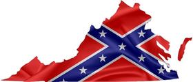 Virginia Confederate Flag Decal / Sticker 05