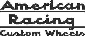 American Racing Custom Wheels Decal / Sticker